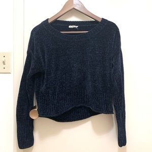 Garage chenille cropped sweater